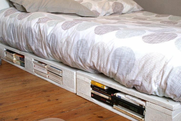 original cama palet color blanco