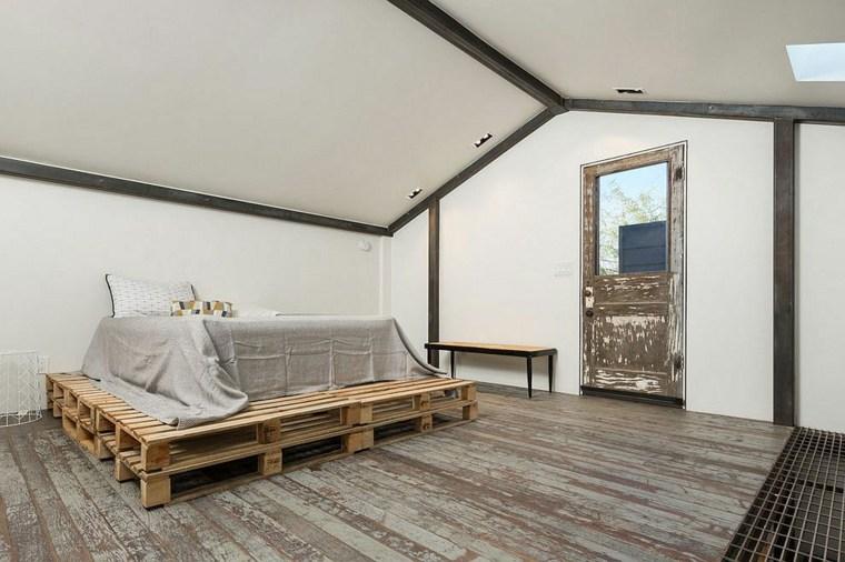 original cama palet diseño moderno