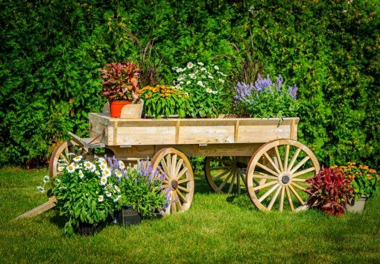 original carreta jardinera madera