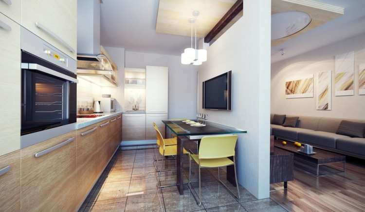 original cocinas pequeñas modernas comedor moderno