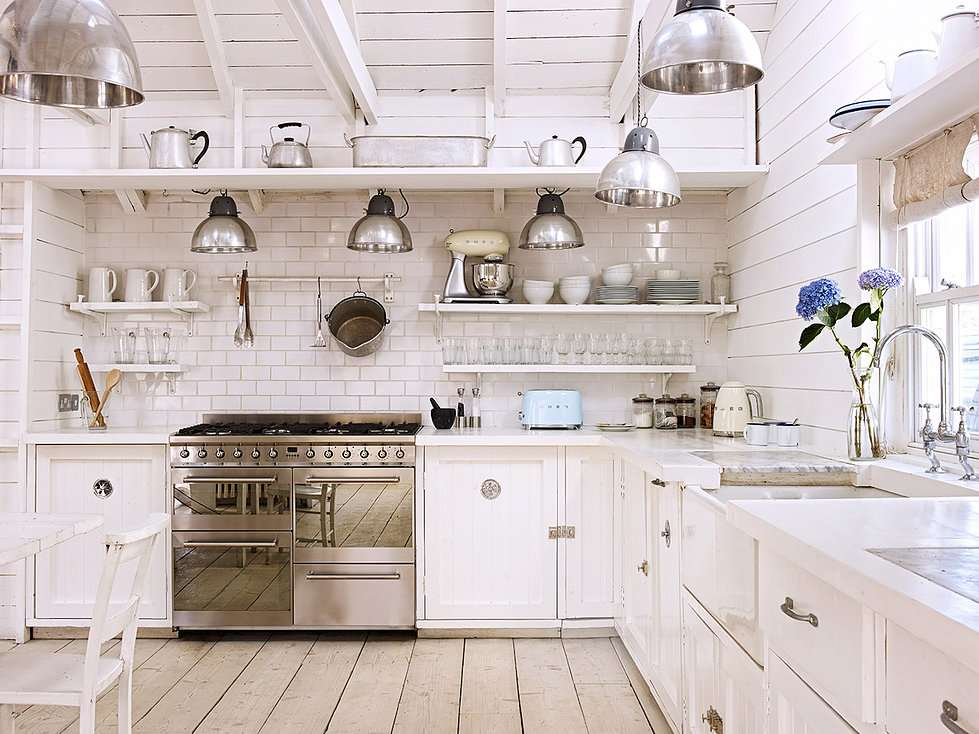 original diseño cocina retro blanca