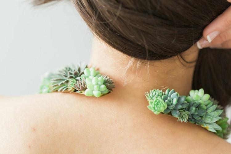original diseño collar cierre plantas