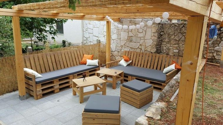 Decoracion con palets ideas para muebles de dise o casero for Muebles de terraza con palets