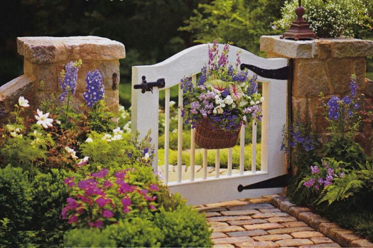 Puertas de jardin arcos verjas cancelas vallas y for Petit portail de jardin
