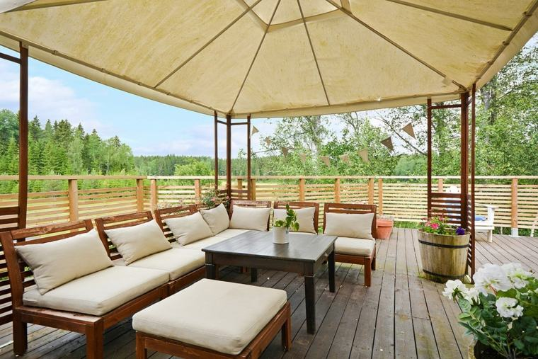 Ideas para decorar terrazas modernas - veintidós diseños -
