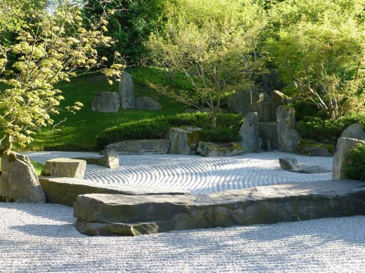 dieño jardín Zen grava
