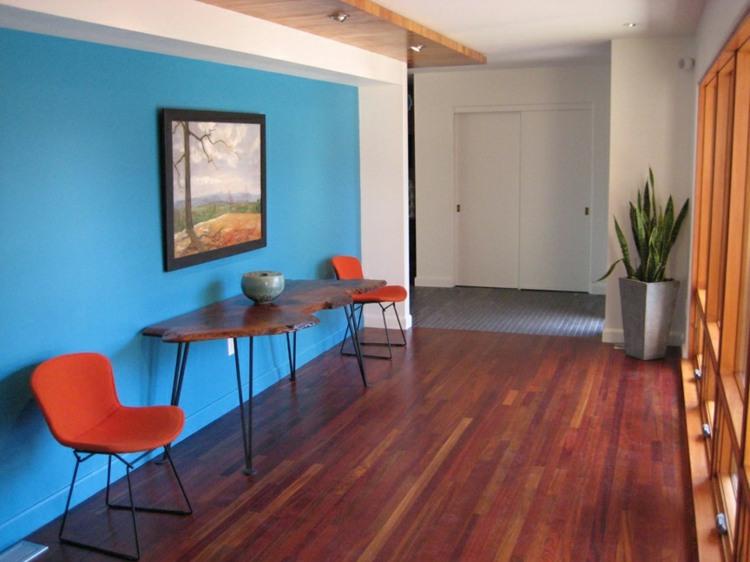 original diseño pasillo azul