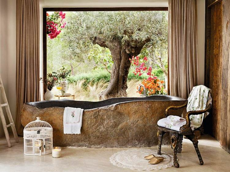 original diseño bañera piedra