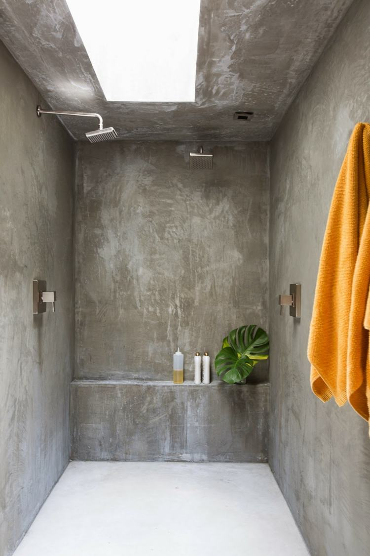 original diseño cabina ducha cemento