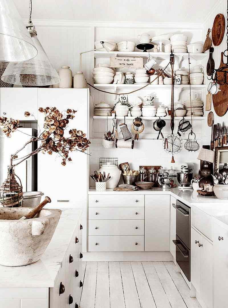 original diseño cocina muebles blancos