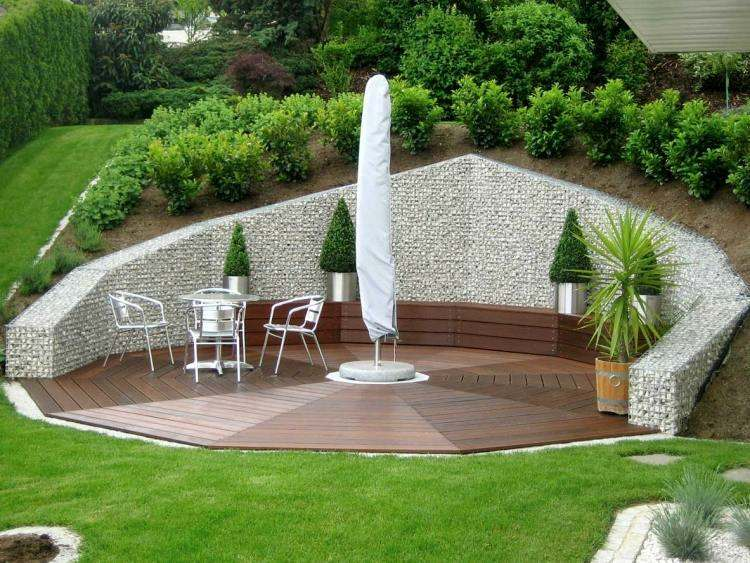 Gaviones y muros de alambre y piedras 63 dise os - Disenos de jardines con piedras ...