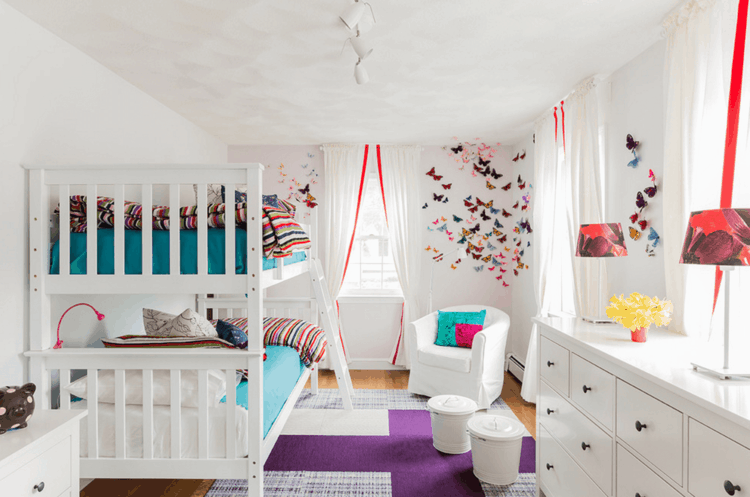 original diseño dormitorio literas blancas
