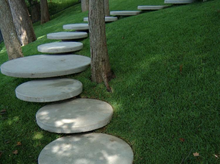 Imagenes de paisajes de jardines modernos 25 dise os - Escaleras para jardin ...
