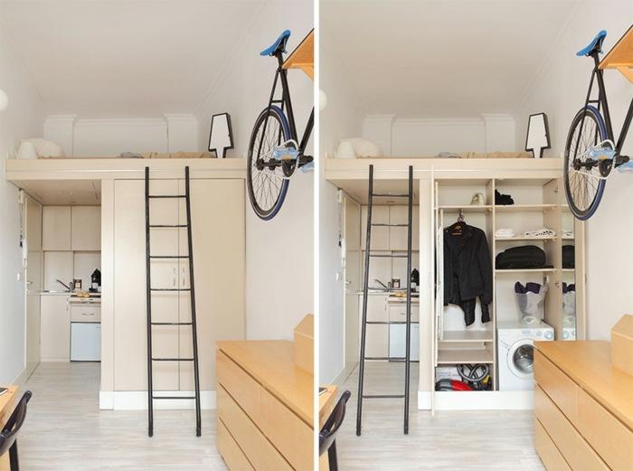 original diseño habitacion altillo cama