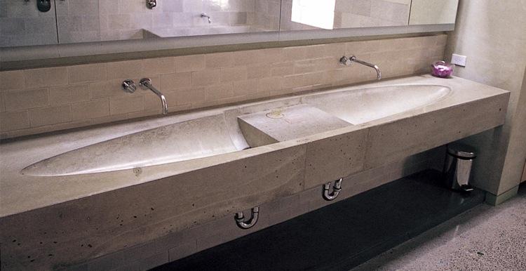 original diseño lavabo concreto