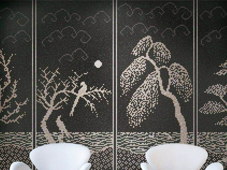 original diseño de mosaico arboles