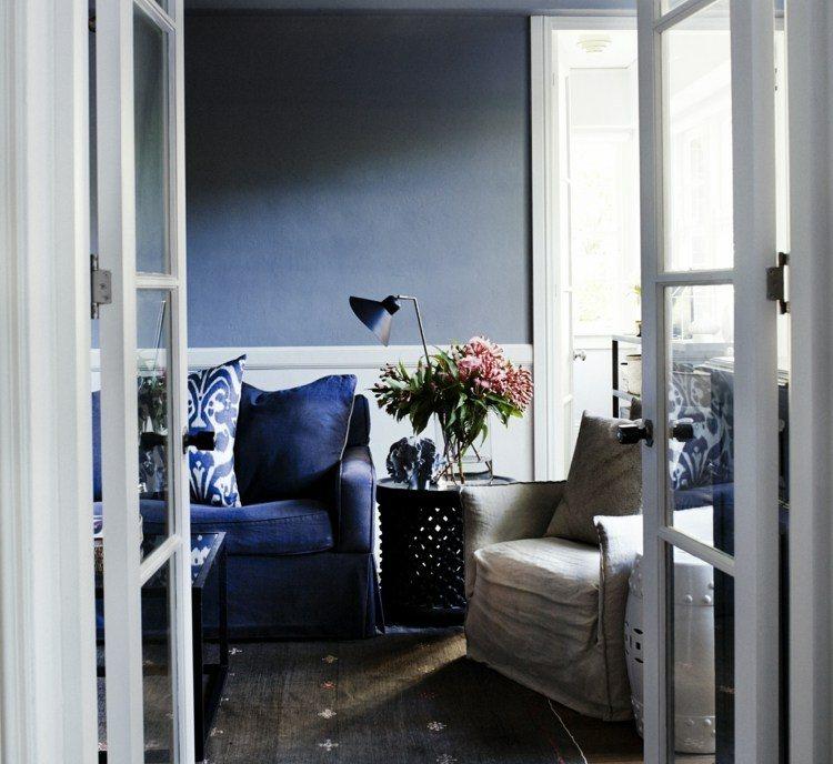 original diseño pared terraza azul