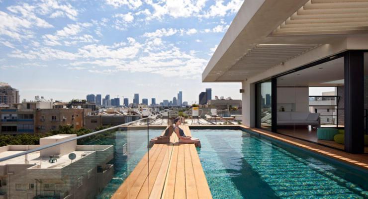 original diseño terraza piscina