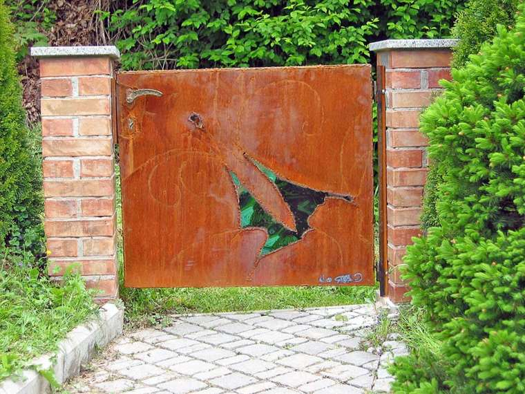 original puerta acero corten