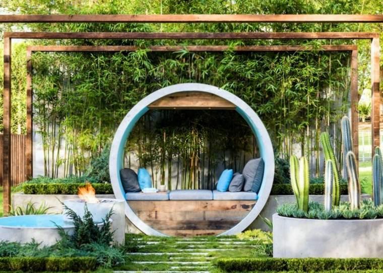 original diseño esfera banco jardín