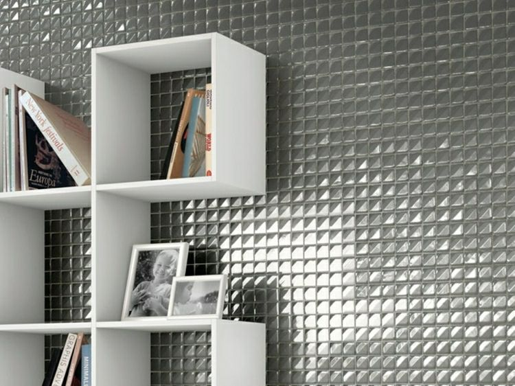 original mosaico color gris brillante