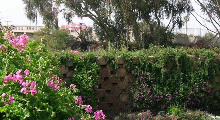 original muro valla piedras jardin