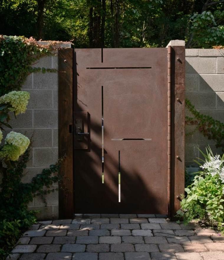 original diseño puerta corten