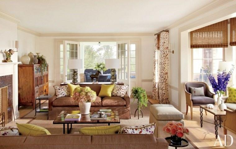 Ideas para decorar la sala de estar en primavera -