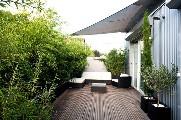original diseño terraza deco bambu