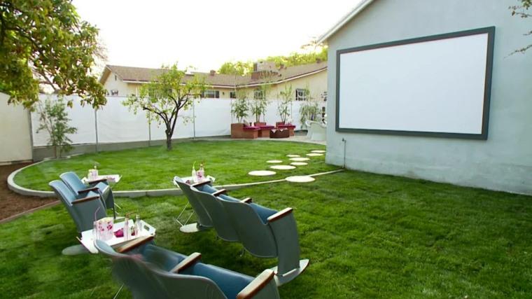 original cine pantalla jardín