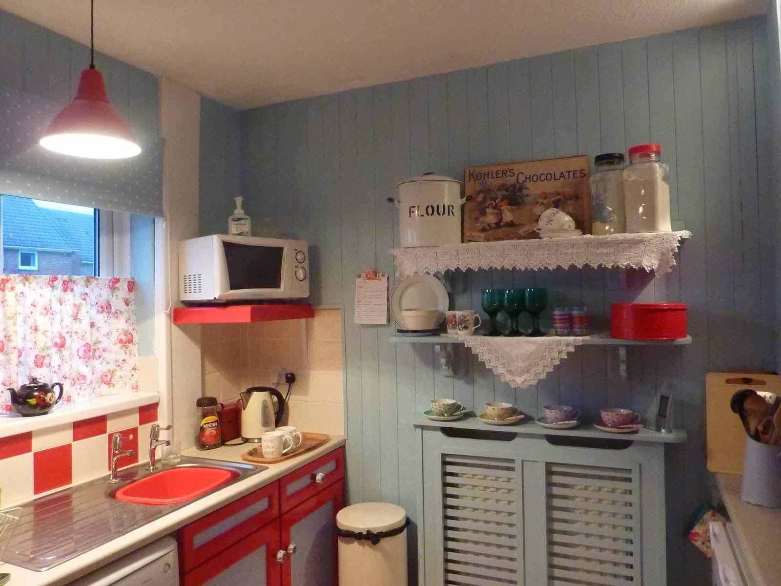 Dise o de cocinas shabby chic abra paso a la dulzura - Cocinas retro vintage ...