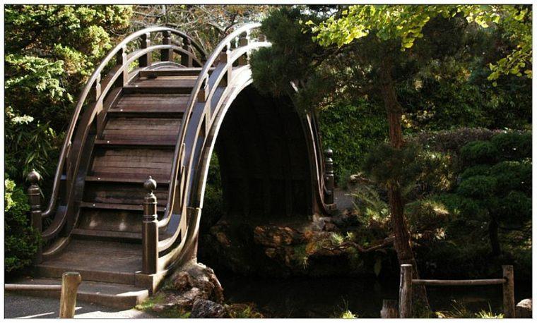 originales diseños puentes jardín