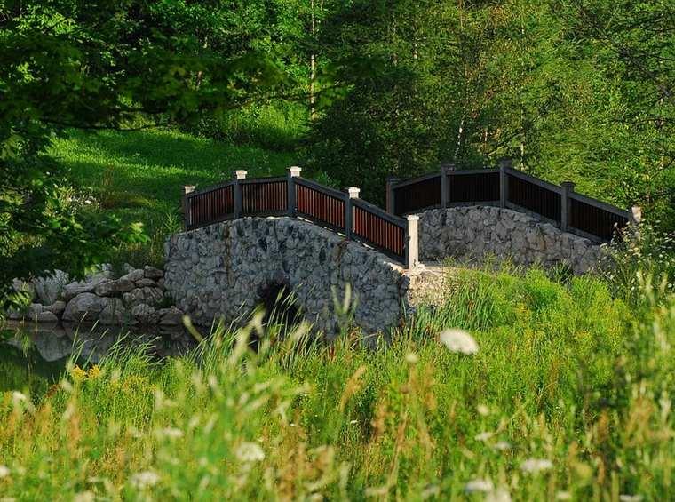 originales diseños puentes jardin