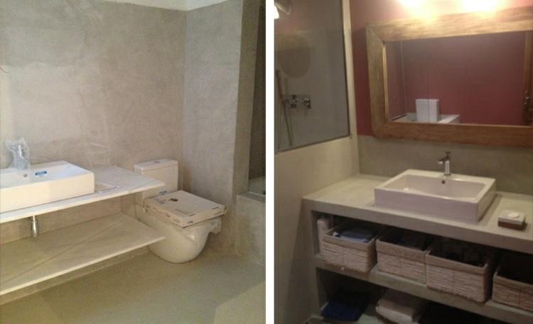 Cuartos De Baño En Microcemento:Diseños de baños microcemento de estilo moderno