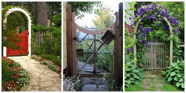 originales dsieños puertas jardin