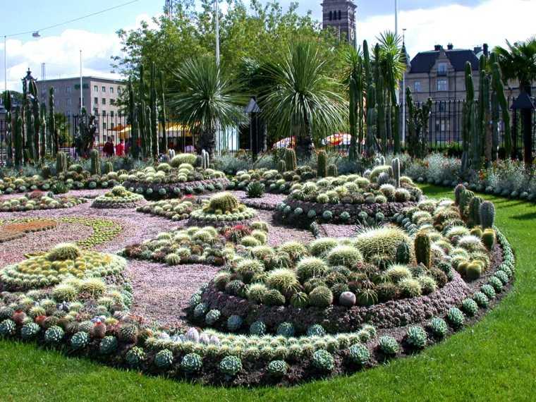 Jardin de cactus cuarenta y nueve ideas de c mo elaborar for Adornos para parques y jardines