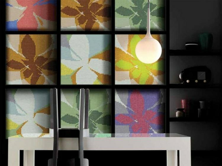 originales diseños placas mosaicos flores