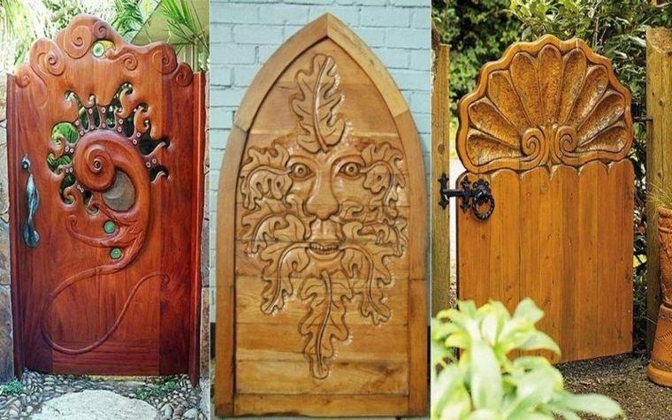 Puertas de jardin arcos verjas cancelas vallas y for Puertas originales madera
