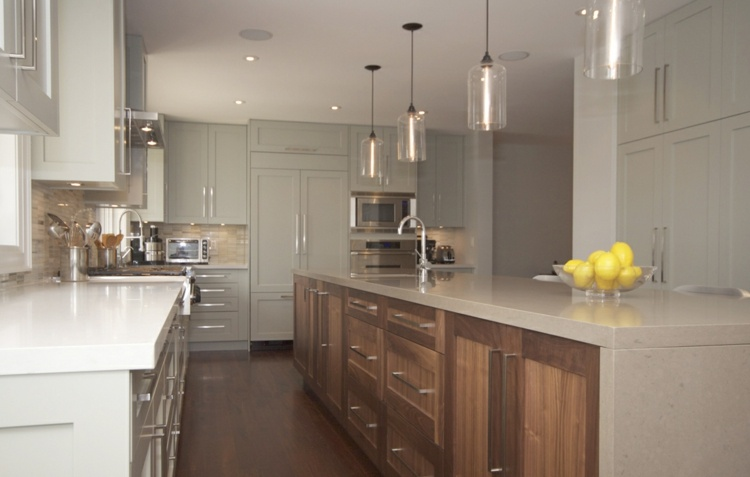 Lamparas de cocina modernas para una iluminaci n pr ctica - Lamparas colgantes para cocina ...