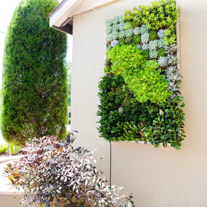 originales pequeñas paredes verticales exteriores