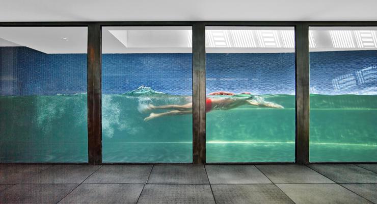 originales diseños piscinas vidrio
