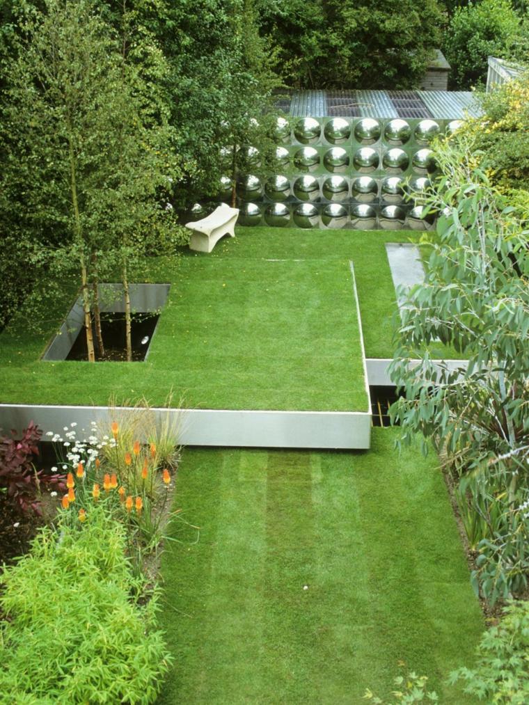originales plataformas cesped jardín