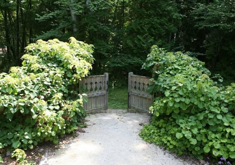 originales puertas madera jardines
