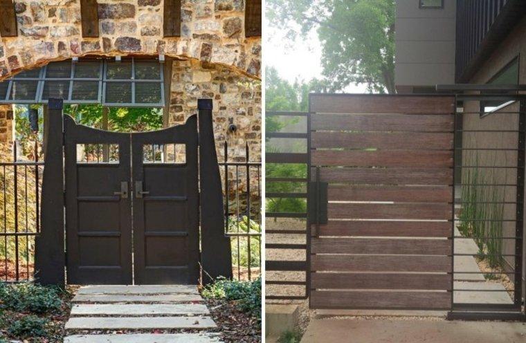 diseños modernos puertas jardín
