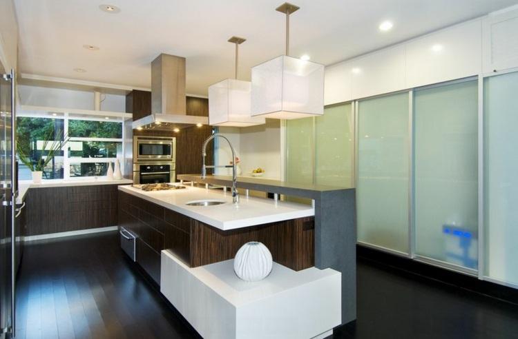Lamparas de cocina modernas para una iluminaci n pr ctica - Luminarias para cocinas ...