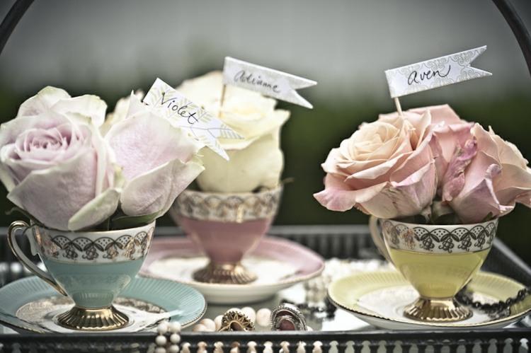originales tazas vintage nombres rosas