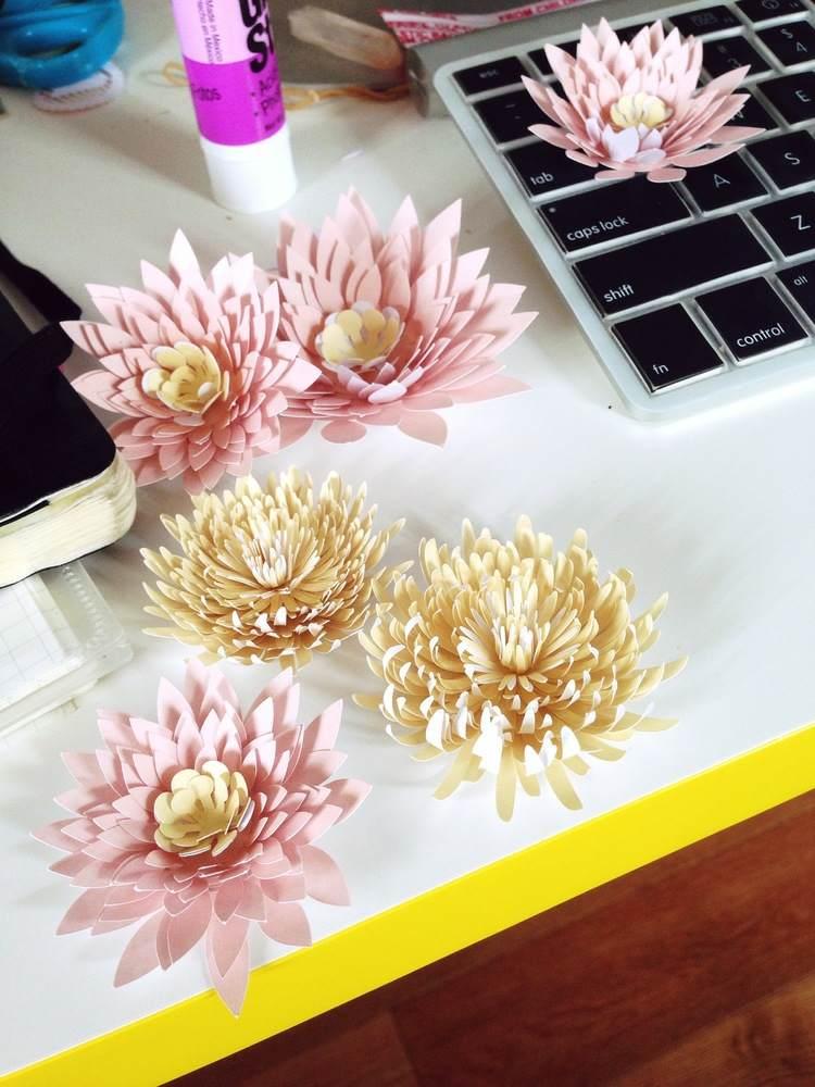 originales flores de papel