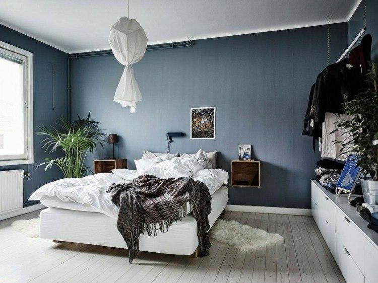 orioginal pared azul añil