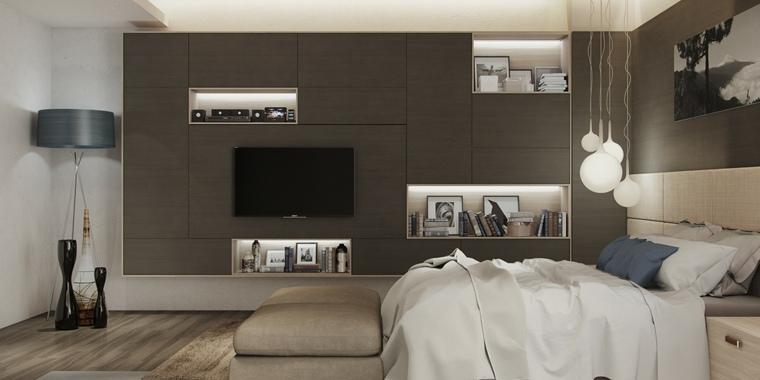 pared habitacióon laminado madera