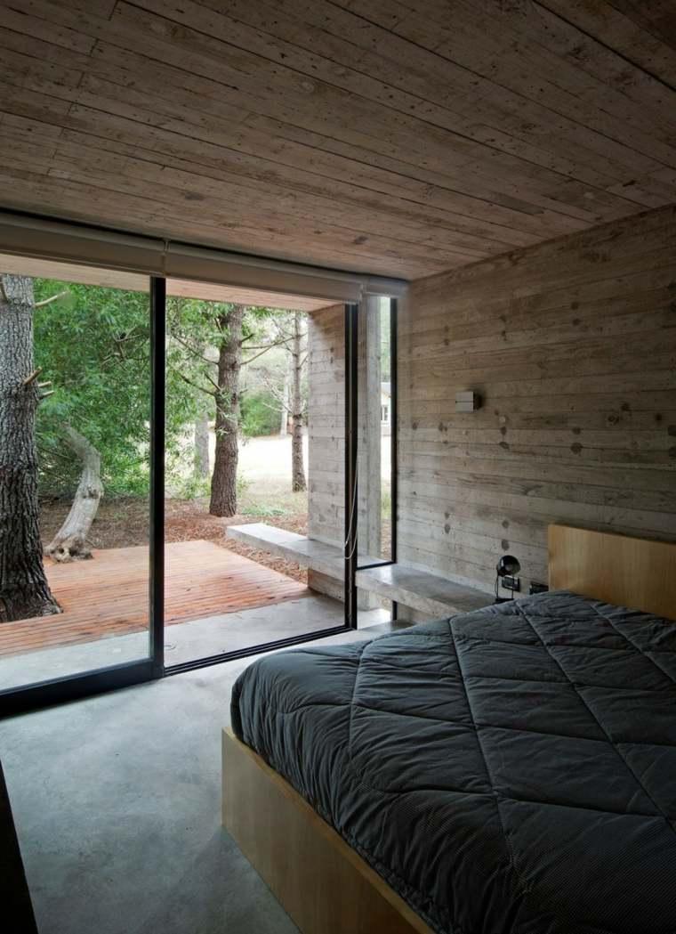 pared hormigon casa opciones dormitorio ideas